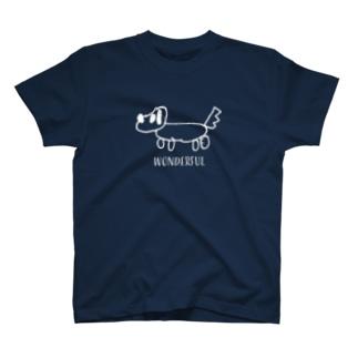 犬ワンダフル 黒 T-shirts