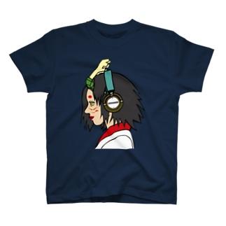 ドラゴンガールとヘッドフォン T-shirts
