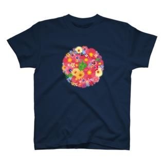 Love Turtle Flower Circle T-shirts