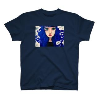 青いあの子 T-shirts