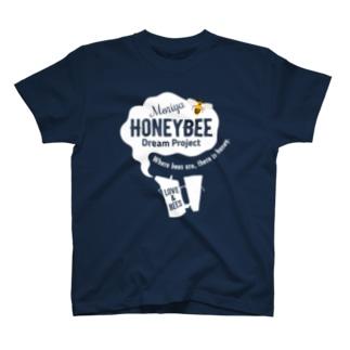 ミツバチプロジェクト・白抜き T-shirts