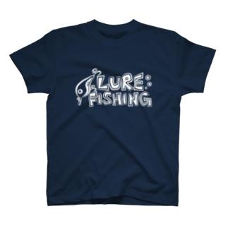 ルアーフィッシング(lure fishing)_濃淡生地 T-shirts