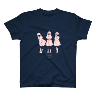 シルエットガール・ピーチ T-shirts