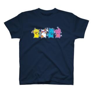ねこさんずアンサンブル T-shirts