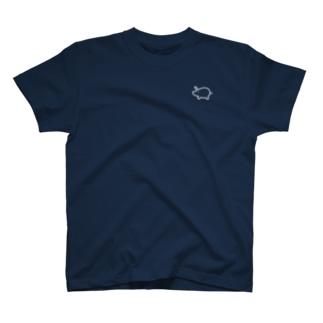 くりぷ豚 1ポイントロゴ T-shirts