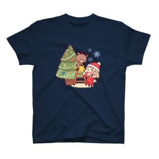 サンタガール&トナカイ T-shirts