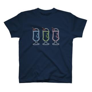 クリームソーダ(3colors) T-shirts