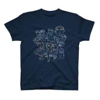 all the faces I've met. T-shirts