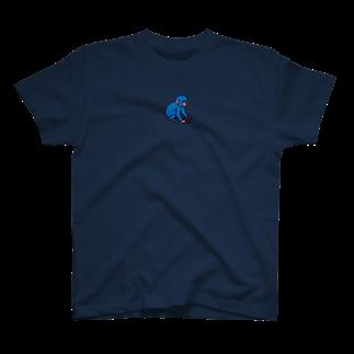 ジルトチッチのデザインボックスの今日もよろしくお願いしますだのブルーモンキー T-shirts