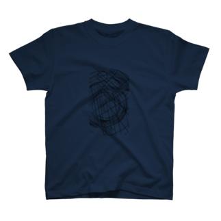 丸と直線。 T-shirts