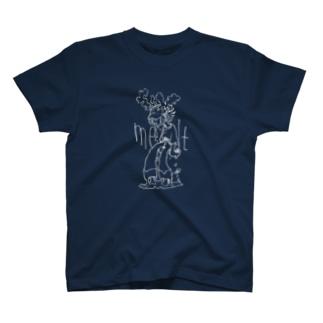 とける(melt)濃い色ver. T-shirts