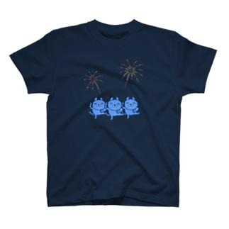 うたっておどる、青いネコ T-shirts