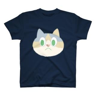 人を見下す三毛キャット T-shirts