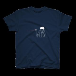 ウエキナツミの庭のこの糸なんの糸気になる糸(ネイビー) T-shirts