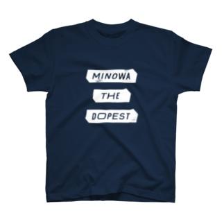 MINOWA THE DOPEST 白 T-shirts