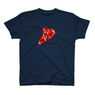 オカリナ ライン赤黒黄 T-shirts