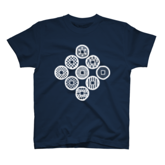 AnotherCreativeAreaの九同開珎 T-shirts