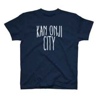 CMPSのKAN-ONJI CITY - White Logo T-shirts