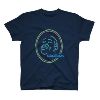 香港ネオン風ブルー T-shirts