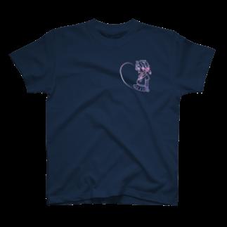 ねのAnimeGirl_Seishunlike【Night】Small T-shirts