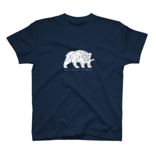 木彫りの熊 シロクマ風 T-shirts