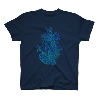 トモカワ ヒロサキ デザインショップのコーラルフィッシュ-1 T-shirts