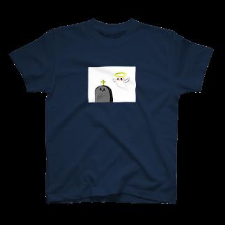 黒ごませさみん。のおばけちゃんとお墓ちゃん T-shirts