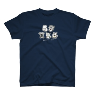 白文字:お絵かき書道インストラクターT T-shirts