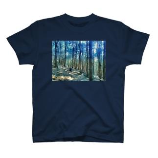 青い森の木漏れ日 T-shirts