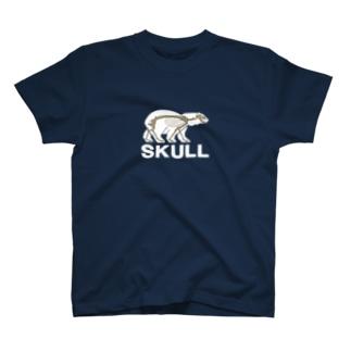 SKULL(白クマ) T-shirts
