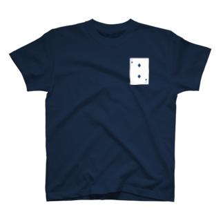 トランプ-ダイヤ-2-Blue-右上 T-shirts