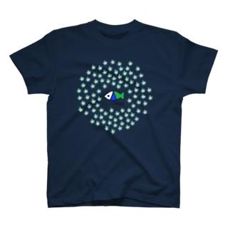 さかなロゴ Forget-me-not T-shirts