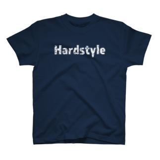 HardstyleロゴTシャツ白文字 T-shirts
