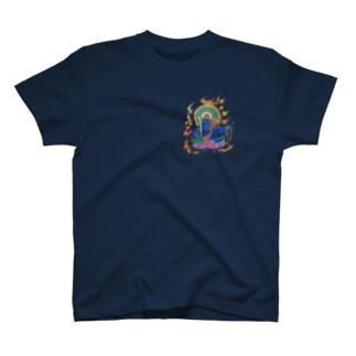 青い不動明王さん T-shirts