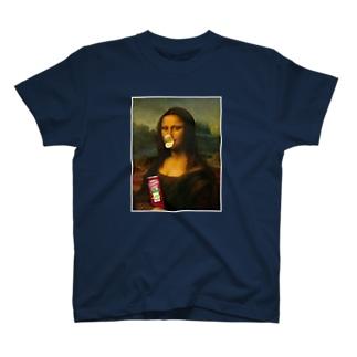 モナリザのポテチくちばし T-shirts