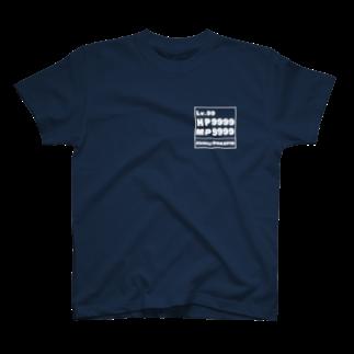 セカイゲイト・スズリ店のレベル99(文字白) T-shirts