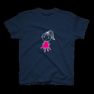 ROMANTIC-TECHNOLOGYのTOKYOちゃん(濃色Tシャツ) T-shirts