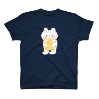 お星さまぎゅっとのくまねこ T-shirts