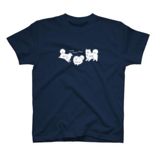 もふもふわんず(カラーVer.) T-shirts