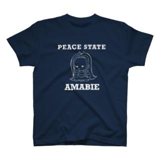 乙女なアマビエ、オトビエちゃん白線ver. T-shirts