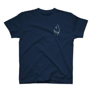 マスクde阿波踊り(白)両面 T-shirts