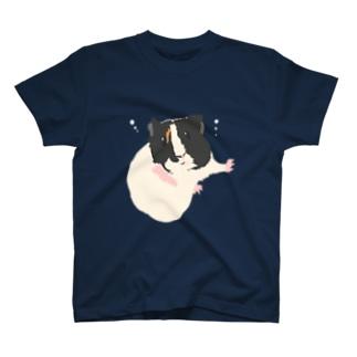 空中と水中を漂うモルモット03 T-shirts