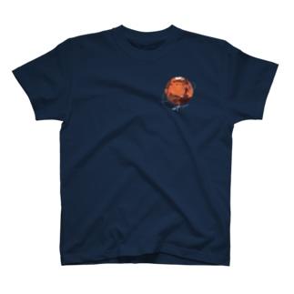 ShikakuSankakuの火星 (黒地用) T-shirts