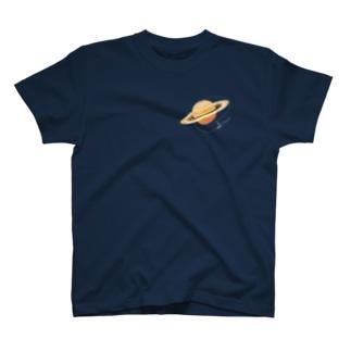土星 (黒地用) T-shirts