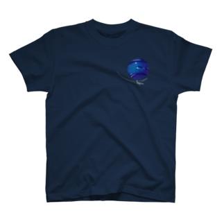 海王星 (黒地用) T-shirts