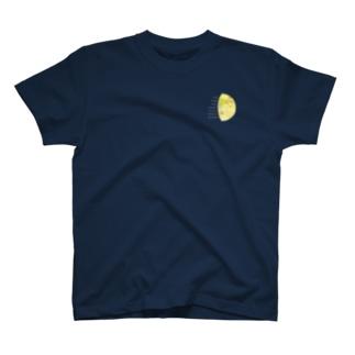 地球と月の満ち欠け(地球から見た月) 黒地用 T-shirts