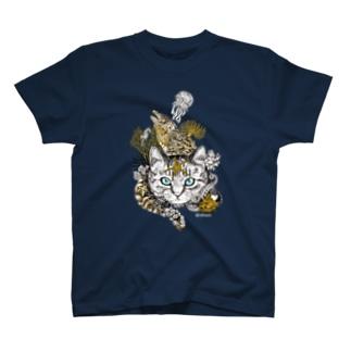 磯猫 T-shirts