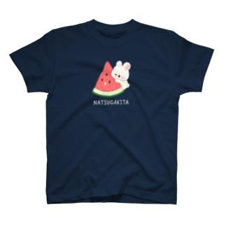 スイカとうさぎ T-shirts
