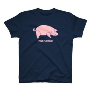 長州変態維新の会 のPINK FLOHYLD ANIMALS T-shirts