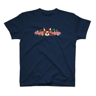 松山征シローのにゃんころグッズ 減色Ver. T-shirts